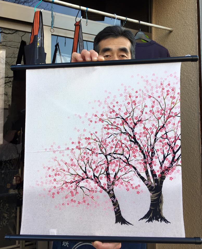 ちりめん45㎝ 桜 2016.2.27