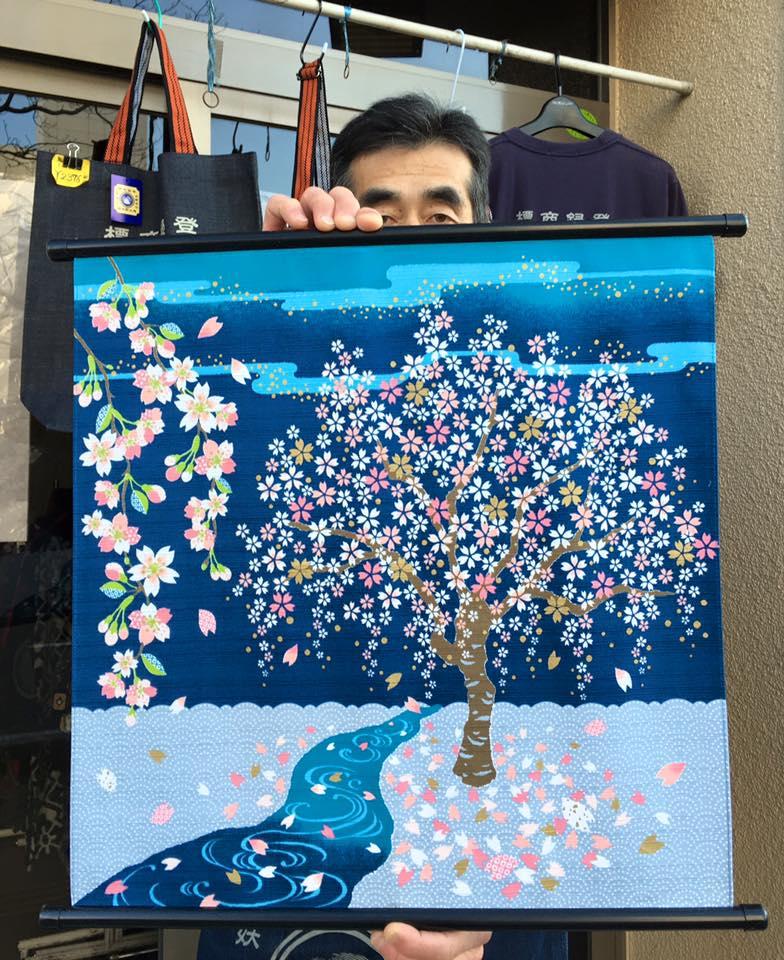 木綿布50㎝ さとうひろみ 桜 2016.2.27