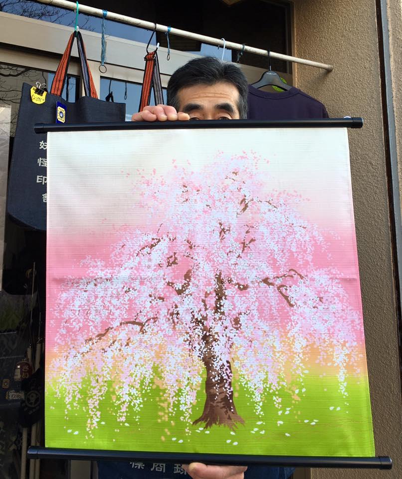 木綿布50㎝ 有職 しだれ桜 2016.2.27