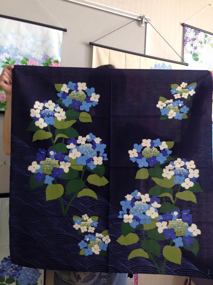 木綿布 90㎝ 紫陽花 2015
