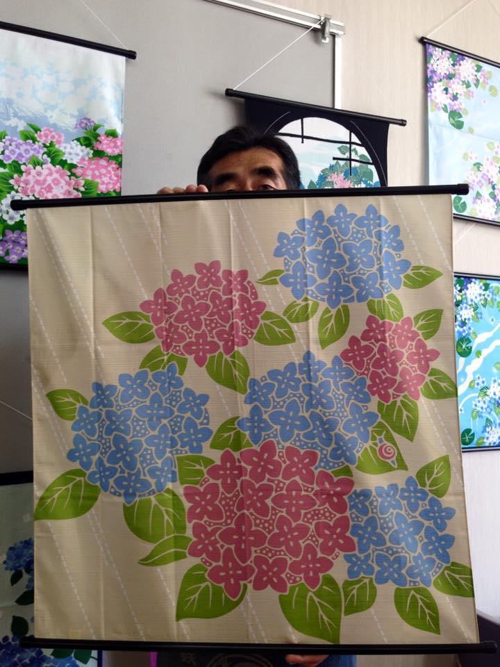 木綿布 70㎝ 二色紫陽花 2015